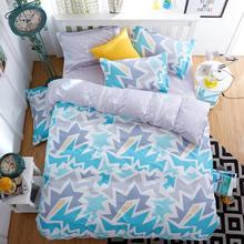 UNIHome textile,Reactive Print 4Pcs bedding sets luxury Duvet Cover Bed sheet Pillowcase,King Queen Full size