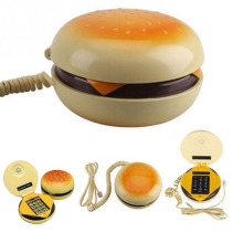 Durable Baby Child Novetly Juno Hamburger Cheeseburger Burger Corded Phone Novelty Telephone Education Toys Kids Cute Gift