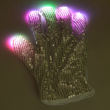 50 pair LED Gloves Rave Finger Lighting Flashing Concert Stage Cosplay Glow Mittens Rave Luminous Party Nice Gloves Gift ZA3736