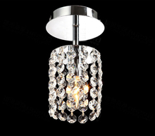 2016 Modern Luxury E14 LED Ceiling Fixture K9 Crystal Hanging Wire Ball Pendant Light Living Room LED Lamp Lighting