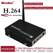HSV831W H.264 Wireless HDMI Encoder for YouTube Live Streaming MPEG-4 WiFi Camera IPTV Encoder with Loopout  HDMI Transmitter