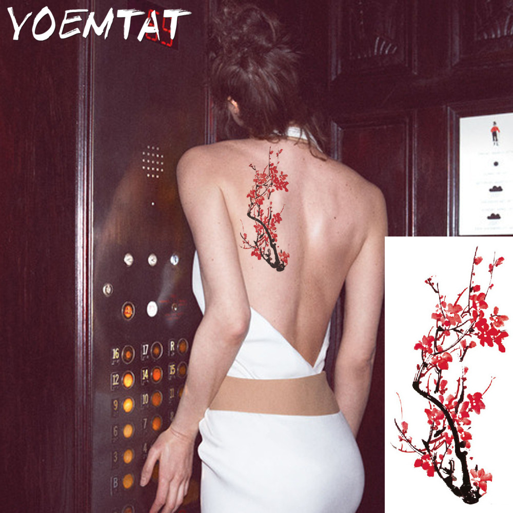 25 style flower arm shoulder tattoo stickers flash henna tattoo fake waterproof temporary tattoos sticker women 19