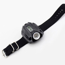 Hot Sell Waterproof LED Tactical Display Rechargeable Wrist Watch Flashlight Multi Tools Outdoor Lighting For Outdoor Camping(China)