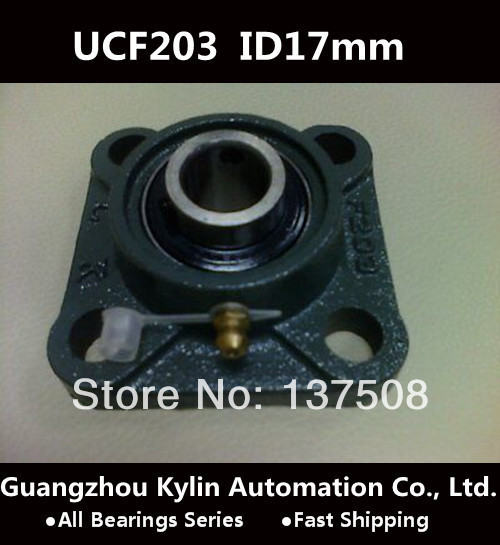 Hot!17mm UCF203 Pillow Block Bearing Long Square Flanged Liner Motion Liner Ball Bear Bearing<br><br>Aliexpress