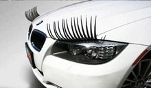 Universal Style Durable Flexible Car Eyelashes Decoration Suv Eyelashes Stickers 1 Pair(2Pcs)