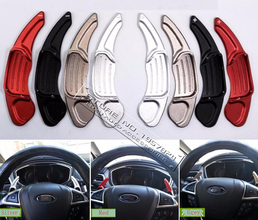 DEE Car Accessories Aluminium steering wheel DSG paddle shifters for Ford Mondeo Explore 2013-2016 Paddle Gearbox stickers<br>