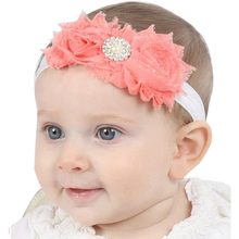 1PC Newborn Baby Girls Satin Ribbon Flower Headbands Photography Props Infant Headband Children Hair Accessories W106