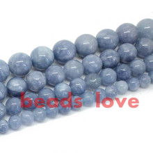 "Natural Stone Beads Angelite Loose Spacer Beads For Jewelry Making 6 8 10 12mm Strand 15"" Diy Bracelet Necklace -F00270"