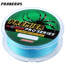 PROBEROS 100M PE Multifilament Braided Fishing Line Super Strong Fishing Line Rope 4 Strands Carp Fishing Cord Angling Accessory