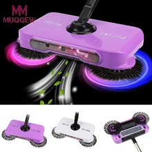 Mop broom 360 Rotary Home Use Magic Manual Telescopic purple Floor Dust Sweeper With adjustable handle Easy transaction scopa di(China)