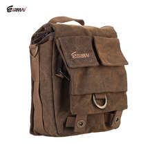 Brand New Coffee Color Eirmai SS05(S) Small Size Camera Messenger Bag Leisure Canvas Single Shoulder Bag Handbag