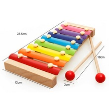 New Children Wooden Toys 8 sclales piano Hitter Knock Piano Wooden Puzzle Educational Toys Music Toys For Kids