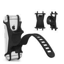 Universal silicone Bicycle Motorcycle Mobile Phone Holder Bike Mount phone holder for cellphone GPS handlebar bracket stand(China)