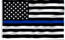 Blue Line usa Police Flags, 90*150cm Thin Blue Line USA Flag Black White And Blue line Flag With Grommets Epacket Drop Shipping(China)