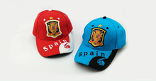 23 teams can choose for Spain caps soccer Red Black football badge caps Adjustable Cotton Shower caps hat(China)