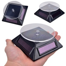 Solar Power 360 Rotating Display Stand Turn Table Plate For Phone Watch Jewelry
