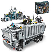 2017 new compatible Military Station Truck City Swat command post Models Building Blocks Set Children Education DIY Boys Toys