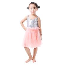 Baby Girl Party Dress Sequin Dress Girls Clothes Summer 2016 Silver Sequin Pink Birthday Clothes Toddler Clothes  Flower Girl