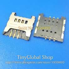 2pcs/lot XGE new sim card reader connector replacement for Samsung S3580 C5530 S7070 C3300 S5360 slot tray module(China)
