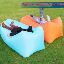 Fast Inflatable Air Sofa Sleeping Lazy Bag Lay Bag Camping Air Sofa Sleeping Beach Bed Banana Lounge Bag Air Bed Square sofa