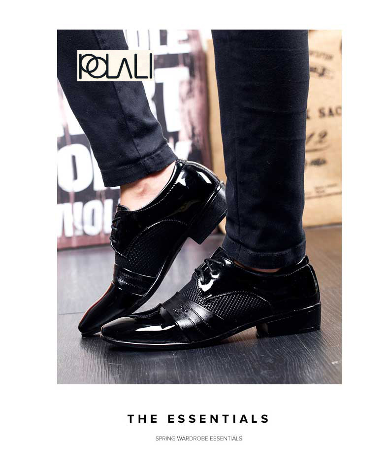 Shoes Sensible Brand Patent Leather Business Mens Dress Shoes Pointed Toe Oxford Shoes For Men Breathable Mesh Formal Office Flats Eu 38-48 Formal Shoes