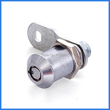5 pieces 27mm chrome plated keyed differently cylinder wardrobe locker door cam lock(China)