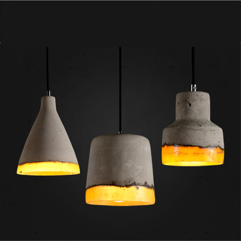 Industrial style retro creative restaurant bar chandelier clothing store cafe window corridor aisle cement lamp WPL284<br>