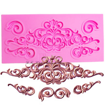 DIY lace pattern vine Border silicone mold cake decorating chocolate sugar decoration tools for cake turning edge T0881(China)