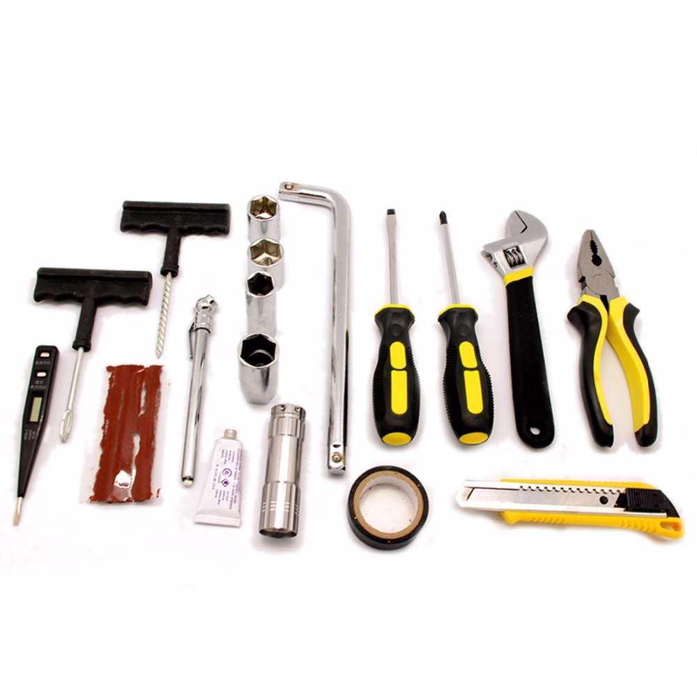Wholesale and retail UNIT Portable Car Accessory Car Combination Tool Kit 19 Pieces in 1 for Emergency Repairs<br><br>Aliexpress