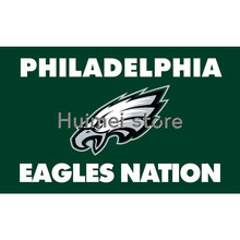 3ftx5ft origin Philadelphia Eagles flag of high quality polyester activities decorative EAGLES NATION flags(China)