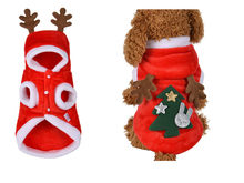 2018 christmas dog clothes winte coat clothing santa costume pet dog christmas clothes cute puppy outfit for dog plus sizes