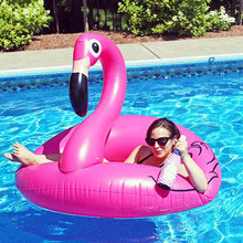 HziriP 1Pcs New Arrivals Inflatable Pool Toys High Quality Cartoon Animals Pink Cute Pool for Grownups Water Holiday Fun Party(China)