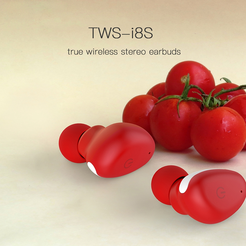 TWS I8s Touch Control Waterproof Bluetooth Earphone Sports In-ear Stereo Earbuds Mini Earphone for Iphone Android Smartphones