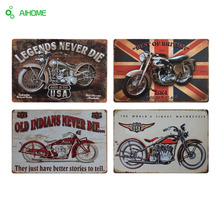 AIHOME Motorcycles Metal Plate Vintage Home Decor Tin Signs Bar Restaurant Cafe Decor Metal Sign Painting Plaque Wall Stickers
