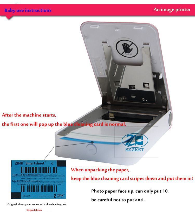 LG Pocket Photo PoPo Zink 60+Sticker 30 Sheets Paper for PD239 PD251 PD261 PD269