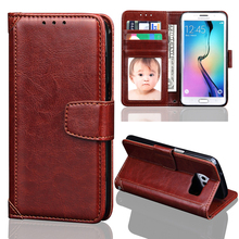 S7edge Case Luxury Faux Retro Leather Wallet Flip Cover Case for Samsung Galaxy S7 Edge Photo Frame Stand Samsung S7Edge Case