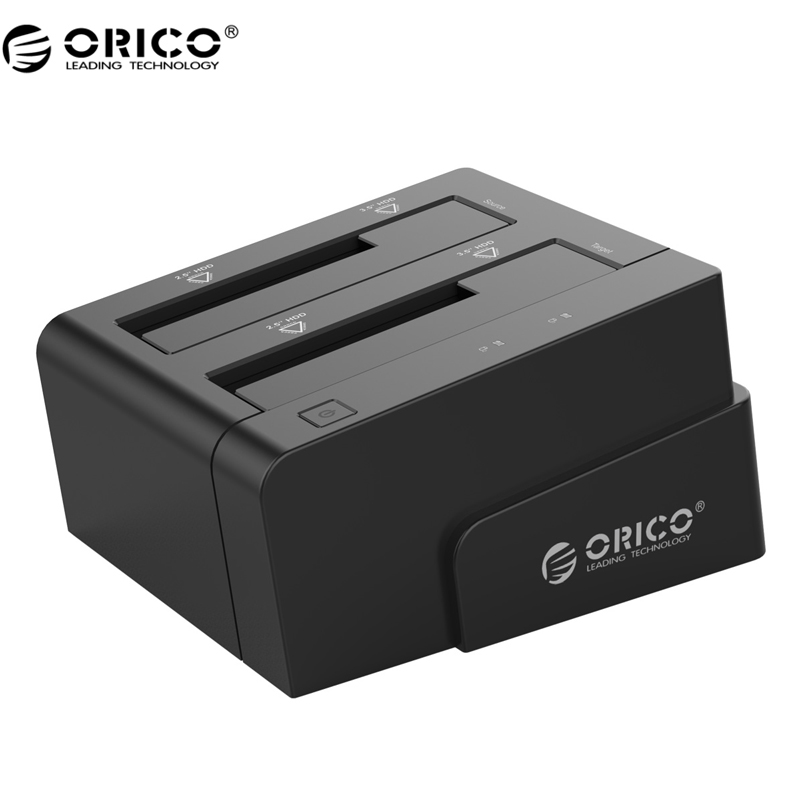 ORICO 6628US3-C 2.5 &amp; 3.5 inch SATA USB3.0 General Hard Drive Enclosure External Docking Station - Black<br>