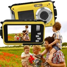 Gizcam Professional 2.7/1.8 inch TFT Digital Camera Waterproof 24MP 1080P Double Screen 16x Digital Zoom Camcorder US Adapter(China)