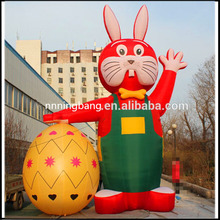 Free shipping 3m height inflatable easter bunny for easter festival decoration