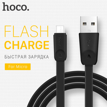 HOCO Micro USB Cable OTG Charging Wire Flat Cables USB Data Transfer Sync Mobile Phones Charger For Xiaomi Samsung LG 2.4A 1M 2M