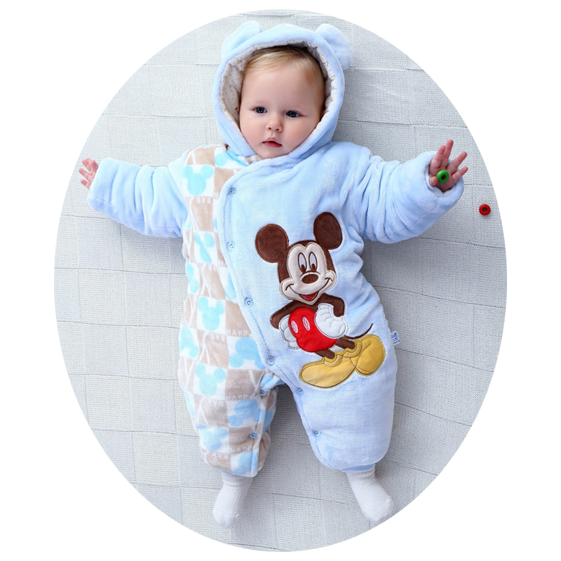 Kawaii Mouse  Baby Girls Boys Clothes Animal Baby Rompers Costume Winter Fleece Clothes For Boys Warm Snowsuit Jumpsuit<br><br>Aliexpress