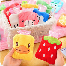 Mini Kawaii Cartoon Kitty Cat Repeated Use Hand Warming Water-filling Hot-Water Bag Lovely Hot Water Bottle.Home Heater Tools