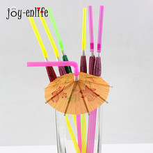20PCS/Lot 3D umbrella Cocktail Drink Straw Disposable Party Straws wedding decoration party supplies happy birthday party favor