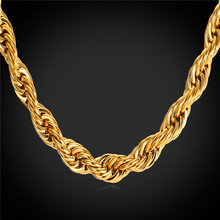 Dookie Rope Chain Necklace For Men Jewelry Wholesale 316L Stainless Steel/Black Gun/Gold Color 9MM Rope Necklace New GN2179