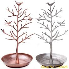 Fashion Bird Tree Stand Jewelry Earring Necklace Ring Show Rack Holder Display jewelry holder 4TK3