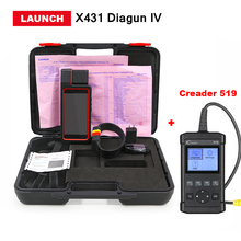 LAUNCH X431 Diagun IV obd2 obd ii Scanner Full system Auto diagnostic tool wifi/bluetooth support Oil/TPMS/Brake/DPF/SAS Reset(China)