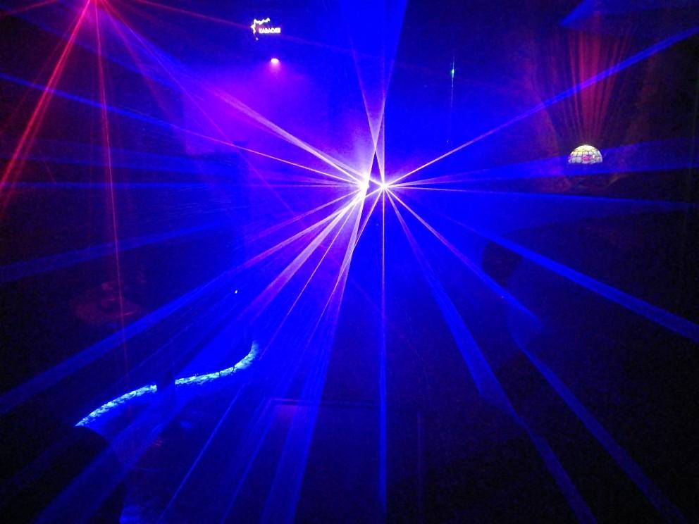 300mW 2 lens Blue 450nm-455nm Beam Laser Stage Light DMX Club Show DJ Bar Party Lighting Laser Lighting DMX DJ Show (9)