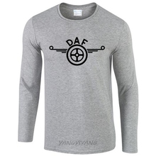 DAF Truck Classic Logo Man long sleeve T-Shirt Raglan T Shirt Men Hip Hop Mens O Neck Homme Casual Tee 2017 new(China)