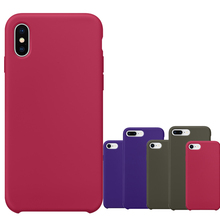 For iPhone X 10 8 7 Plus Original 1:1 Silicone Copy Case Official Design Slim Lightweight Capa Silicon Phone Cover with logo