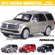 1:32 Scale Luxury Diecast Alloy Metal Car Model For 2017 LINCOLN NAVIGATOR Collection Off-road Vehicle Model Toys Car